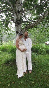 Our 2 year lunar anniversary, and 2 days before Elan is born!